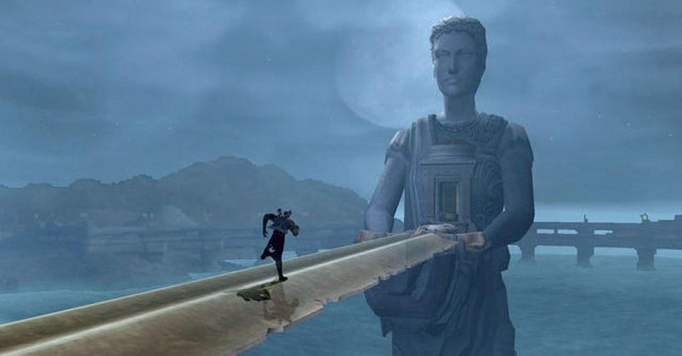 O caminho para o deserto das almas perdidas passa pela estátua de Atena, um local que terá grande importância no final do game