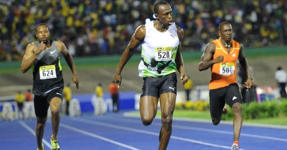 Bolt corre prova dos 100 m rasos na Jamaica