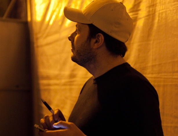 Danilo Gentili nos bastidores do palco de Stand Up Comedy da Pra&#231;a da S&#233; &#40;5/5/2012&#41;