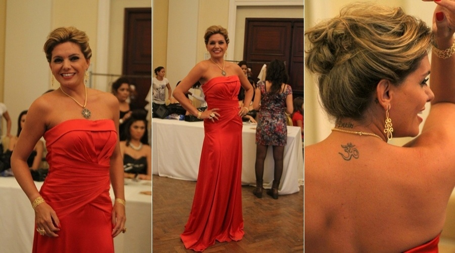 Miryan Martin participa de desfile beneficente em hotel na zona sul do Rio (7/5/12)
