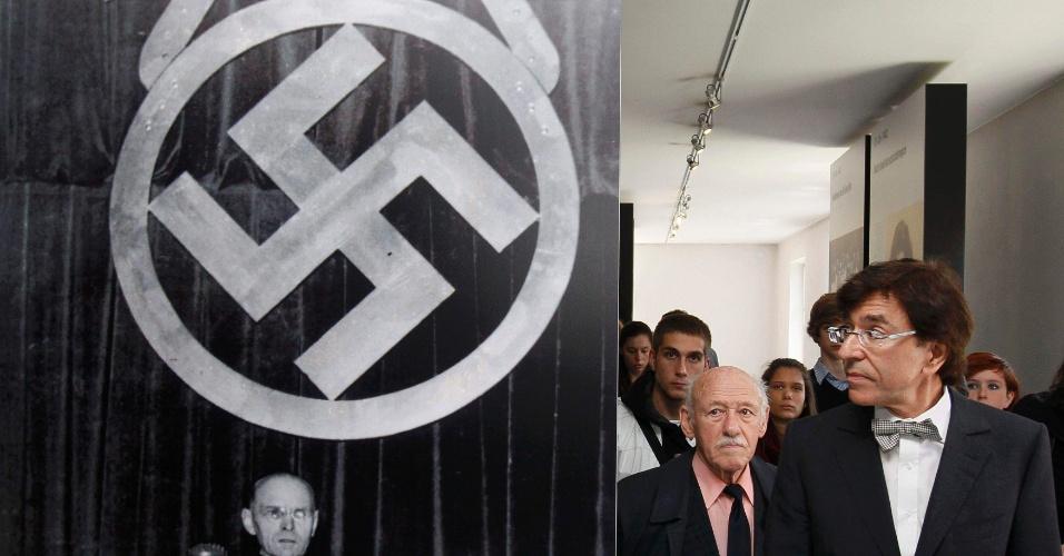 8.mai.2012 - O primeiro ministro belga Elio Di Rupo visita uma exposição sobre o Nazismo no campo de Auschwitz, na Polônia