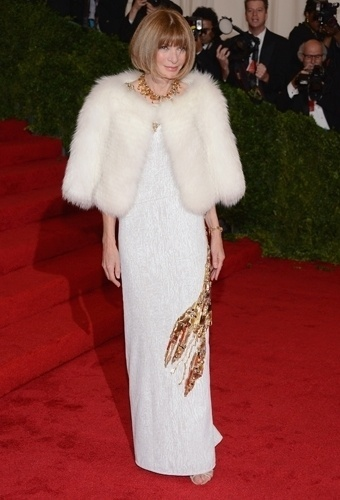 Anna Wintour no baile de gala do MET 2012 (07/05/20120