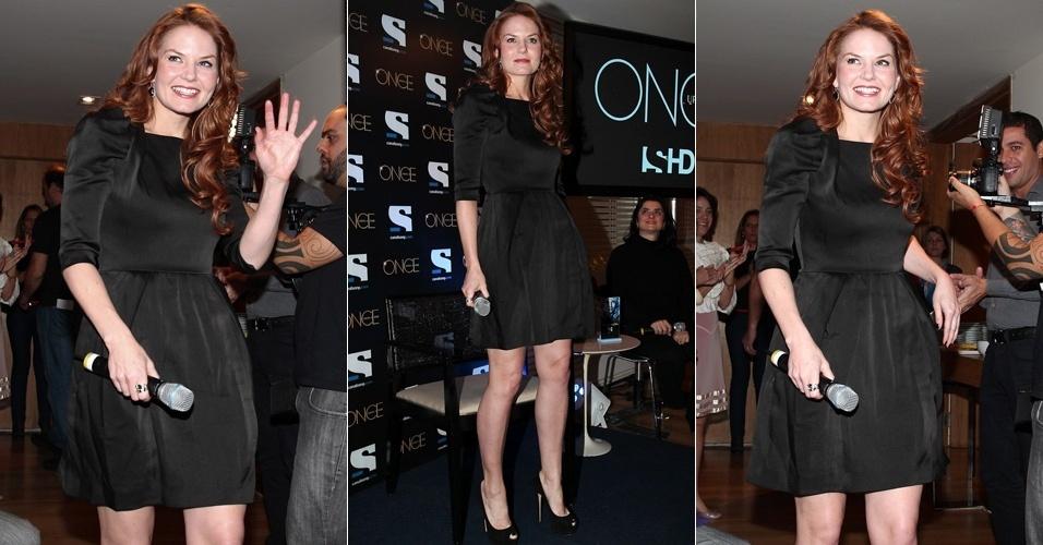 "Atriz Jennifer Morrison divulga a série ""Once Upon a Time? em São Paulo divulga a série ""Once Upon a Time"", em São Paulo (9/5/12)"