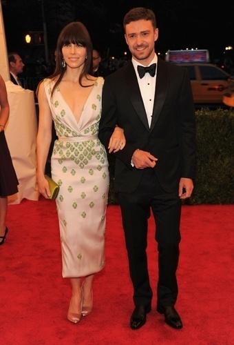 Jessica Biel e Justin Timberlake no baile de gala do MET 2012 (07/05/20120