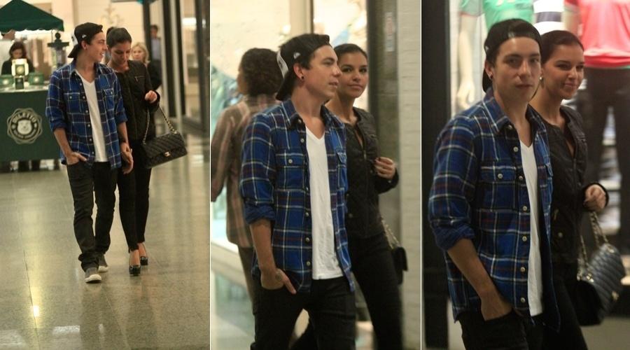 Mariana Rios e Di Ferrero passeiam em shopping da zona oeste do Rio (8/5/12)