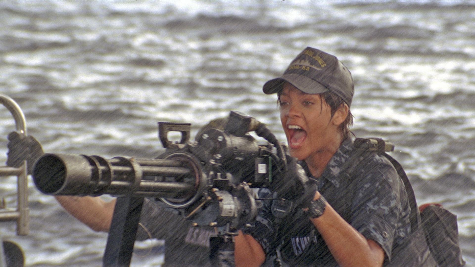 A cantora Rihanna em cena do filme
