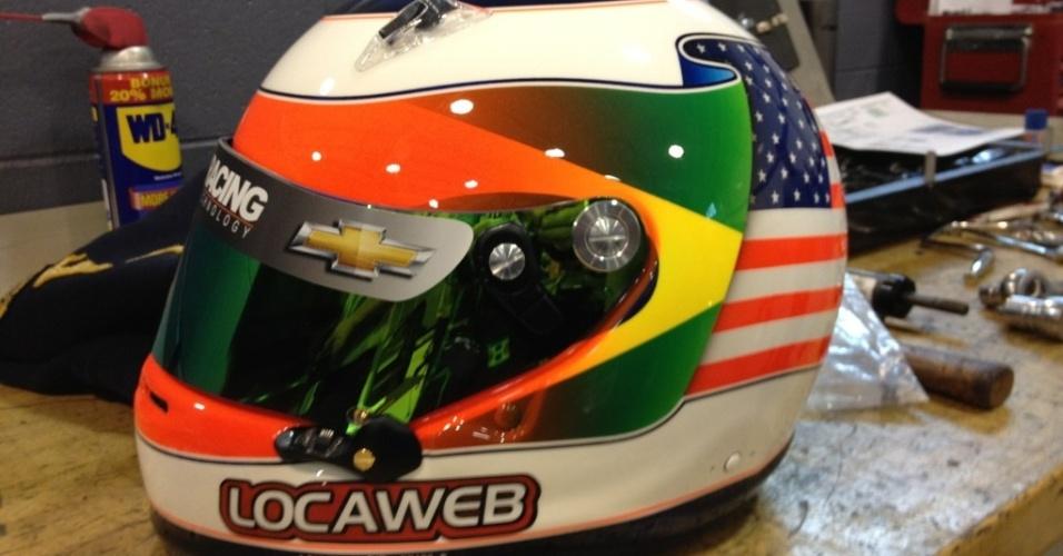 Capacete especial de Rubens Barrichello para as 500 milhas de Indianápolis