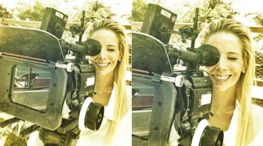 Danielle Winits grava comercial em Goi&#225;s (10/5/12)