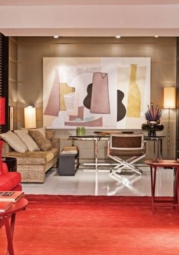Lounge e sala-biblioteca criados por Roberto Cimino e Nelson Amorim - Mostra Artefacto 2012