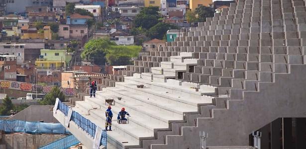 Obras no futuro estádio do Corinthians; certificado ambiental e exigências da Fifa encarecem projeto