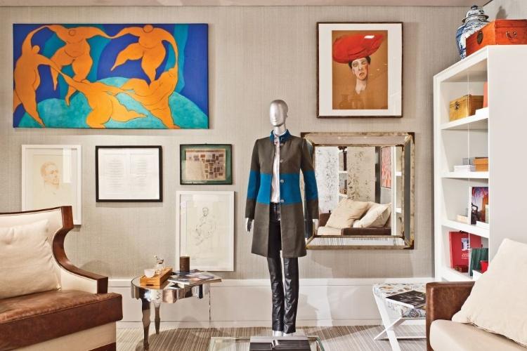 Quarto que também faz função de home office projetado por Nando Marmo - Mostra Artefacto 2012