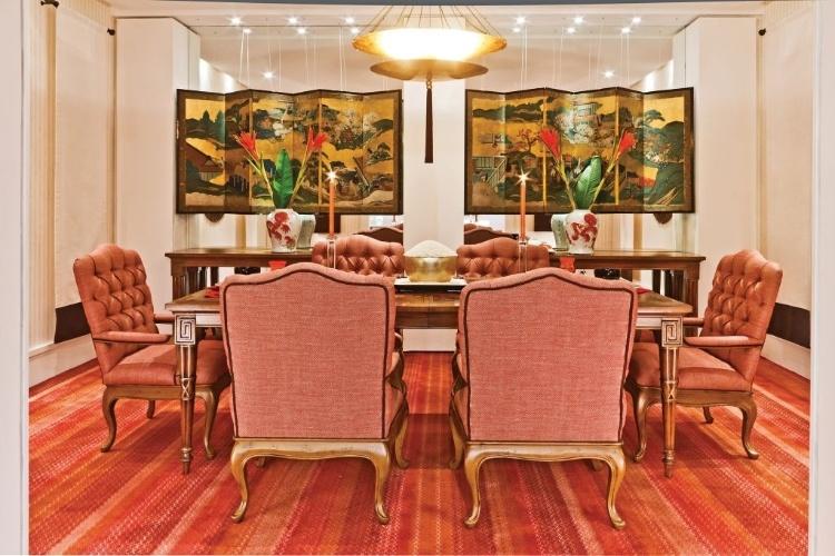 Sala de jantar de estilo oriental do arquiteto João Mansur  - Mostra Artefacto 2012