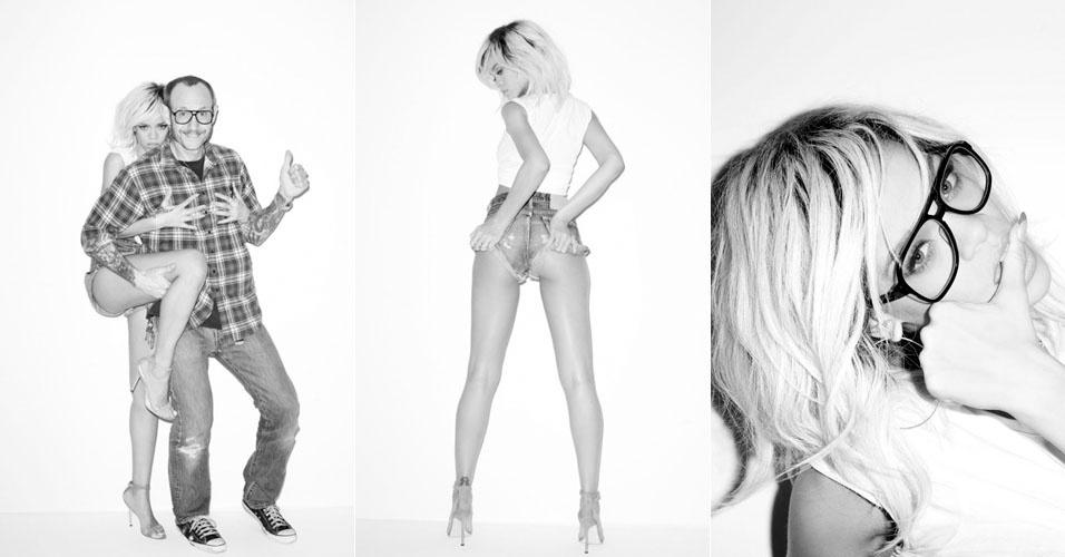 Sensual, Rihanna posou para as lentes do famoso fotógrafo Terry Richardson, que publicou algumas das fotos em seu blog (9/5/12)