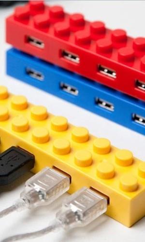 A Elecom desenvolveu hubs USB no formato de peças de Lego