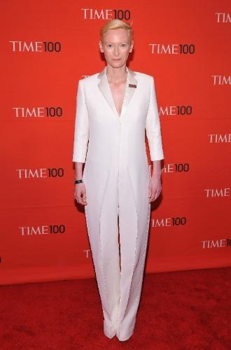 "Tilda Swinton festa da revista ""Times"" (24/04/2012)"