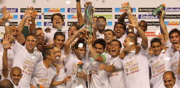 Ao lado de estrelas, crias da base do Fluminense comemoram título do Estadual do Rio
