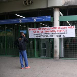 Metroviários de Belo Horizonte entraram no 2º dia de greve nesta terça-feira