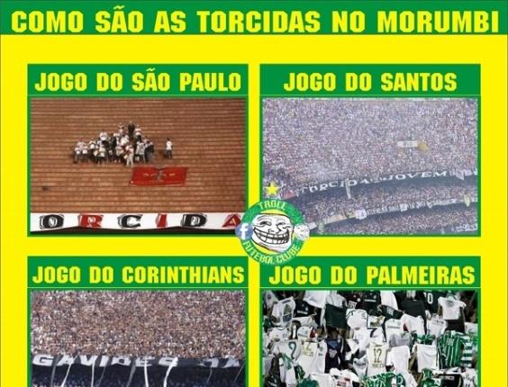 Corneta FC:Torcida do São Paulo decepciona e rivais fazem a festa no Morumbi