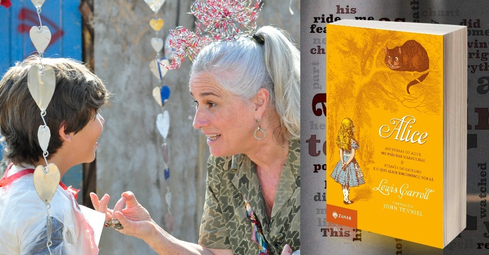 """Lucinda, personagem da atriz Vera Holtz em """"Avenida Brasil"""", já foi vista na novela lendo """"Alice no País das Maravilhas"""", um clássico de Lewis Carroll"""
