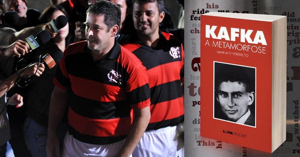 """O jogador Tufão (Murilo Benício), de """"Avenida Brasil"""", nunca deve ter sido um leitor ávido. Porém, influenciado por Nina (Débora Falabella), ele começou a se interessar por literatura. Uma de suas leituras foi """"A Metamorfose"""" de Franz Kafka"""
