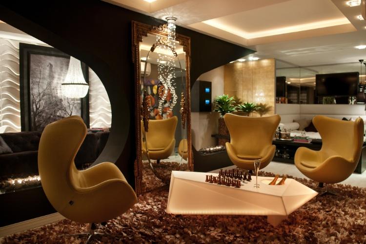 Casa Cor SC - 2012 - Family Room, assinada pelos arquitetos Raquel Ramos e Eduardo Schmidt, faz parte do Apartamento Casa Cor