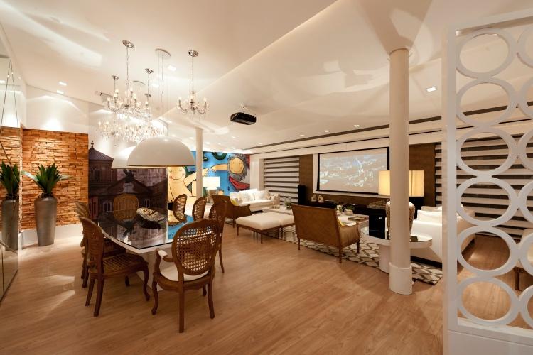 Casa Cor SC - 2012 - Living do apartamento assinado pelos arquitetos Anna Maya e Anderson Schussler