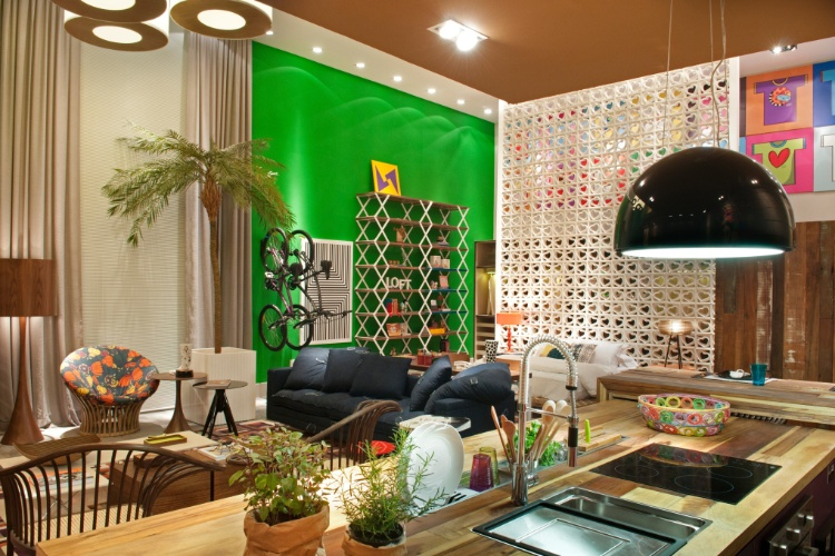 Casa Cor SC - 2012 - Loft Made in Brasil projetado pela arquiteta Juliana Pippi
