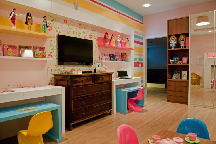 Casa Cor SC - 2012 - Quarto das meninas, no apartamento, pensada por Leticia Caldart e Leonardo Caldart