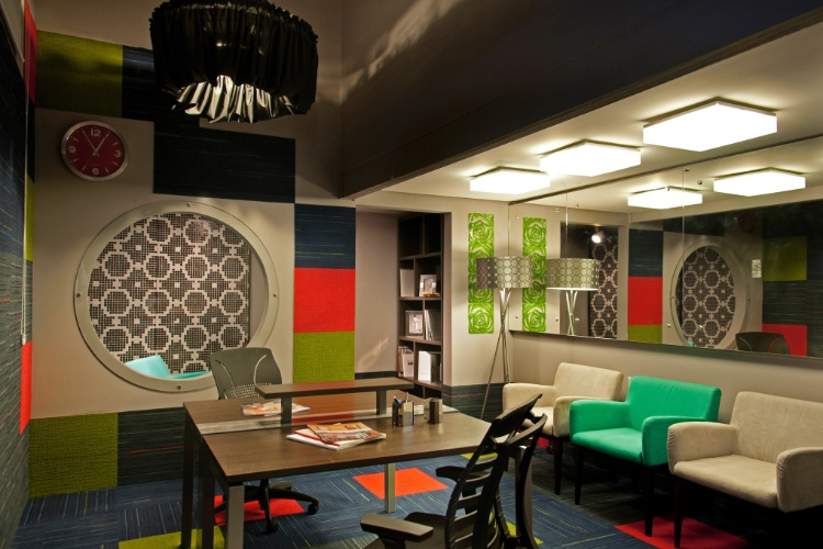 Casa Cor SC - 2012 - sala de imprensa pensada por Silvya Caprario