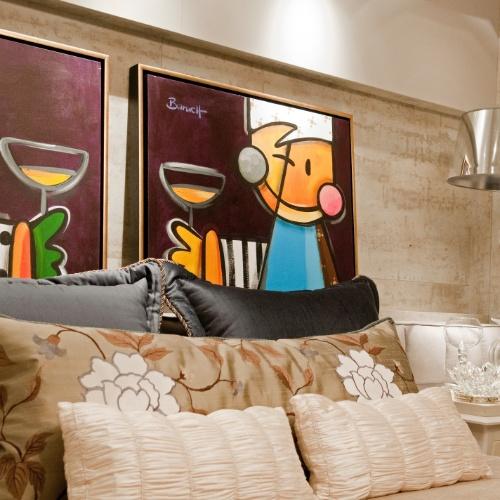 """Casa Cor SC - 2012 - Suíte, ambiente do módulo """"Um Refúgio em Balneário Camboriú"""", projetado pelos arquitetos Alexandre Voigt e Rafael Santos"""