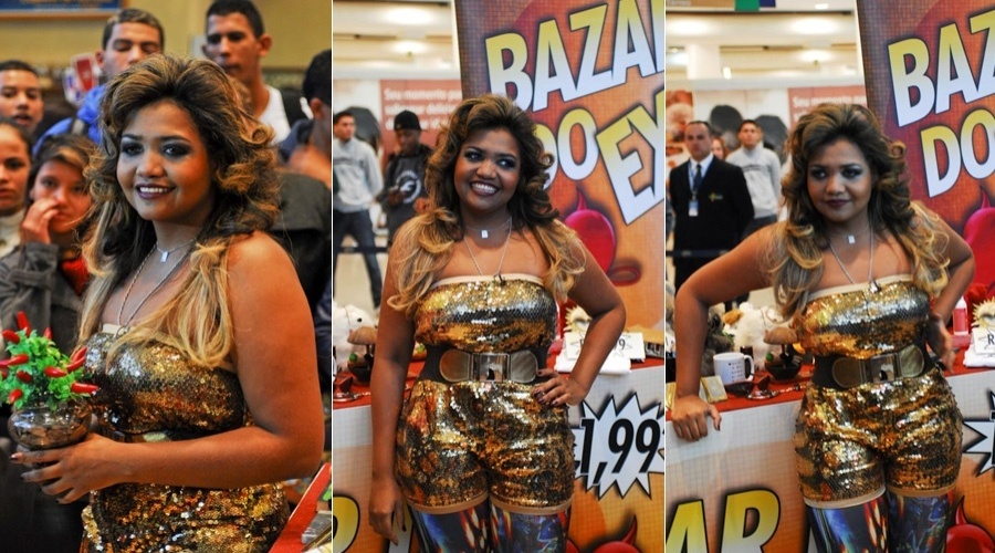 Gaby Amarantos prestiga evento realizado no Mais Shopping, no bairro de Santo Amaro, S&#227;o Paulo (15/5/12)