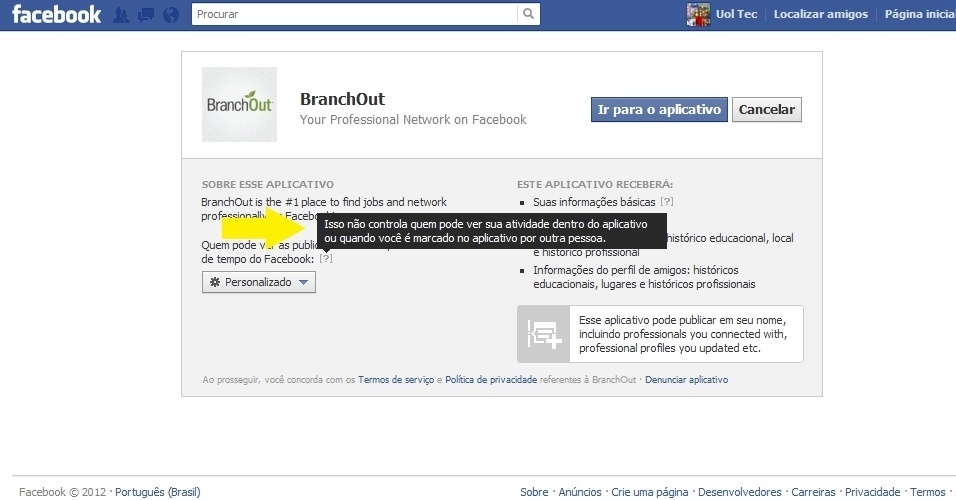 BranchOut no Facebook