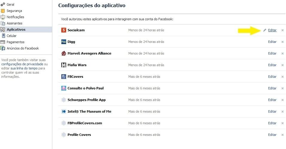 Configurações de privacidade no Facebook