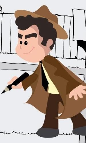 Marina de Sousa, filha de Mauricio de Sousa, fez um desenho do pai na época que ele ainda era repórter policial