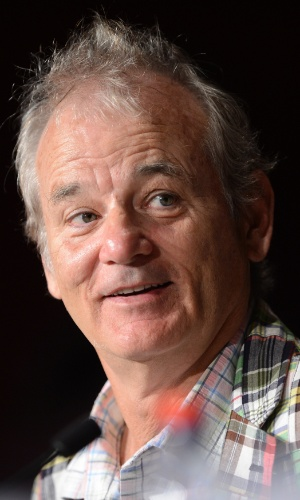O ator Bill Murray fala sobre o filme &#34;Moonrise Kingdom&#34;, de Wes Anderson, que abre o Festival de Cannes 2012, durante coletiva realizada para a imprensa (16/5/12)