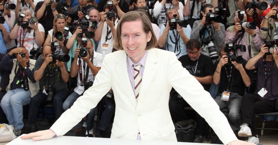 """O diretor Wes Anderson durante fotos para divulgação do filme """"Moonrise Kingdom"""", que abre o Festival de Cannes 2012 (16/5/12)"""