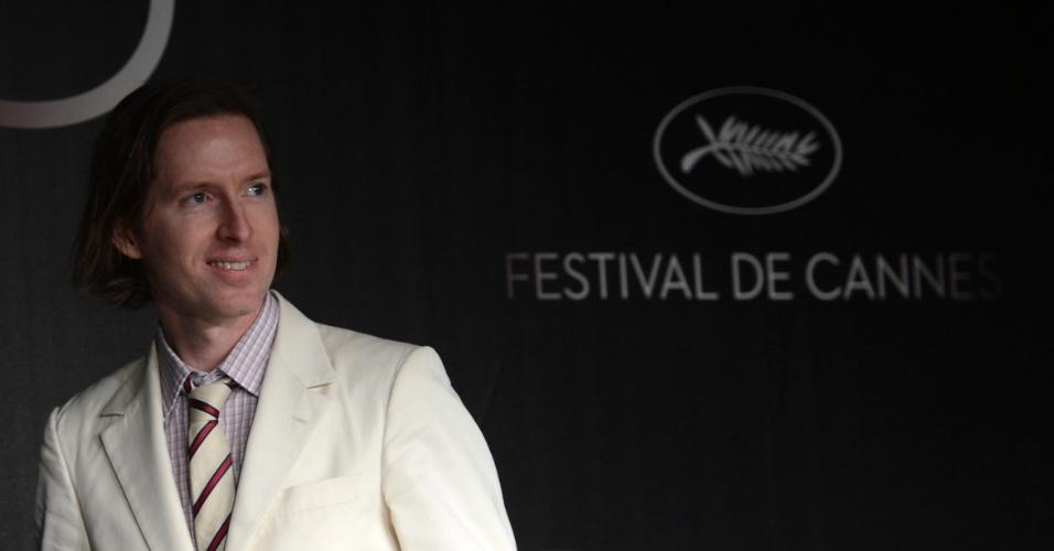 """O diretor Wes Anderson fala sobre o filme """"Moonrise Kingdom"""", que abre o Festival de Cannes 2012, durante coletiva realizada para a imprensa (16/5/12)"""