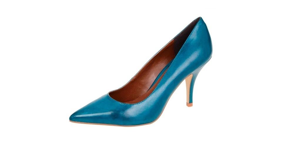 Scarpin azul modelo clássico; R$ 109, na Renner (Tel.: 11 2165-2800)