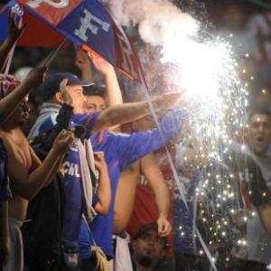 Torcida da Universidad do Chile marcou presença no Paraguai para duelo contra o Libertad