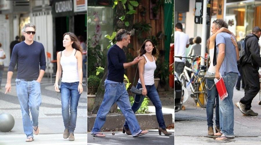 Vincent Cassel passeia pelos bairros de Ipanema e Leblon, zona sul do Rio (16/5/12)