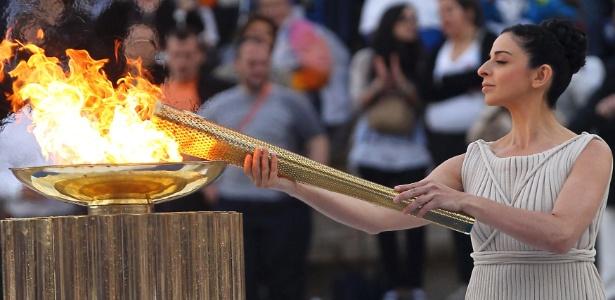Tocha será acesa na tradicional cerimônia na cidade de Olimpia, na Grécia