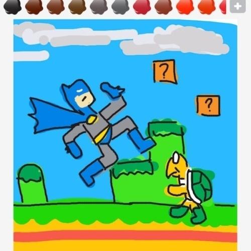 """Batman invade mais uma vez um cenário alheio e cria um crossover inusitado com o mundo de """"Super Mario Bros."""""""