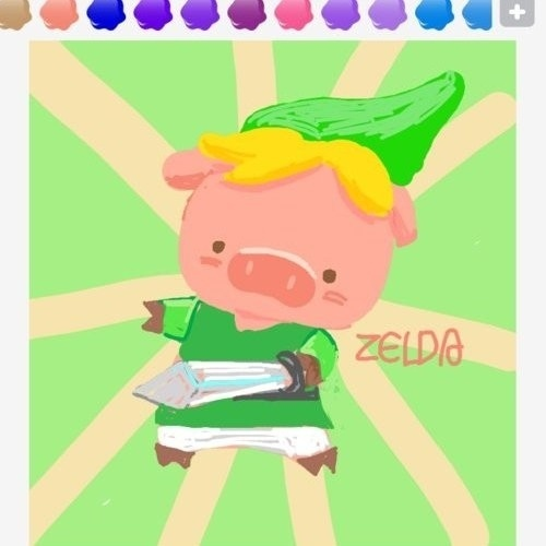 Coçamos a cabeça com o Link em forma de porco, mas é fácil deduzir a palavra (mesmo porque está escrita do lado...)