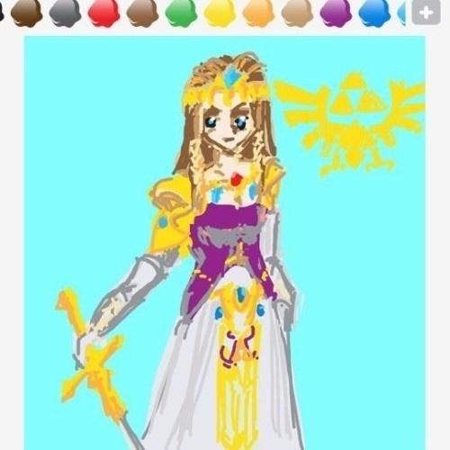 """Em termos de dificuldade, a princesa Zelda é bem mais complicada de desenhar que Link. Ambos fazem parte do vocabulário de """"Draw Something"""""""