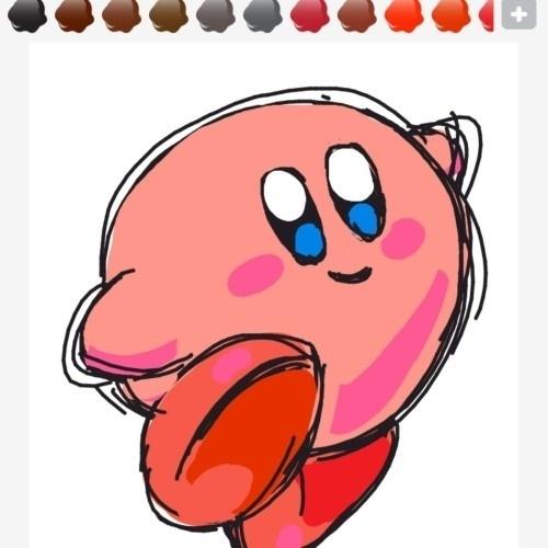 """Kirby, a bolota rosa da Nintendo, é um dos clássicos de """"Draw Something"""", popular aplicativo para iPhone, iPod, iPad e Android"""