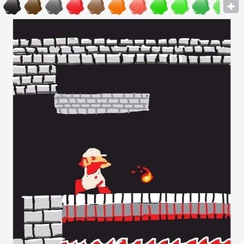 """Mario com macacão branco só pode ser a versão que solta bolas de fogo (""""fireball"""")"""