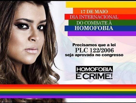 No Twitter, Preta Gil divulga imagem de campanha contra discriminação (17/5/2012)