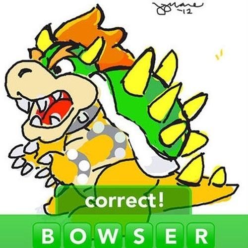 """O eterno arqui-inimigo de Mario, Bowser, é uma das palavras do dicionário de """"Draw Something"""""""