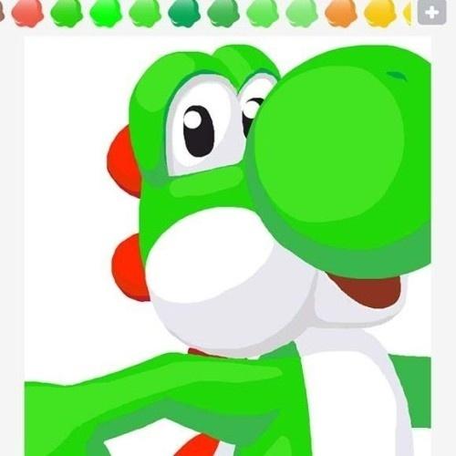"""Os jogadores sabem que o dinossauro Yoshi faz parte do mundo de """"Super Mario Bros."""", mas usá-lo para transmitir """"Mario"""" é um pouco tortuoso. Mas o desenho é muito bacana"""