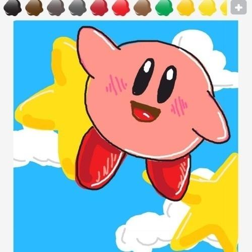 """Pela simplicidade dos traços, Kirby, da série homônima, aparece como um dos personagens mais bem representados pelos recursos simples de """"Draw Something"""""""